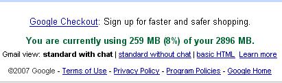 Gmail Ofrece 3 GB de almacenamiento