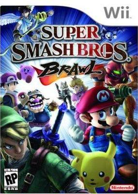 Super Smash Bros Brawl Wii Cover