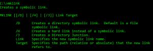 sintaxis de mklink